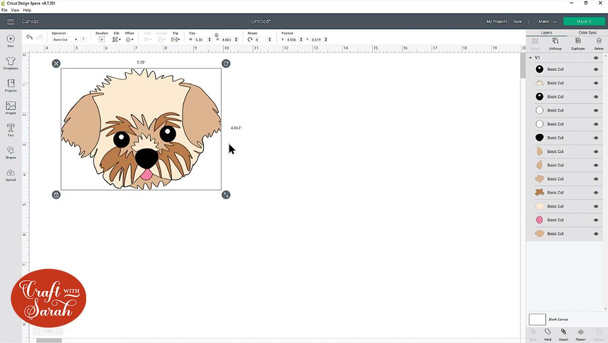 Dog head SVG