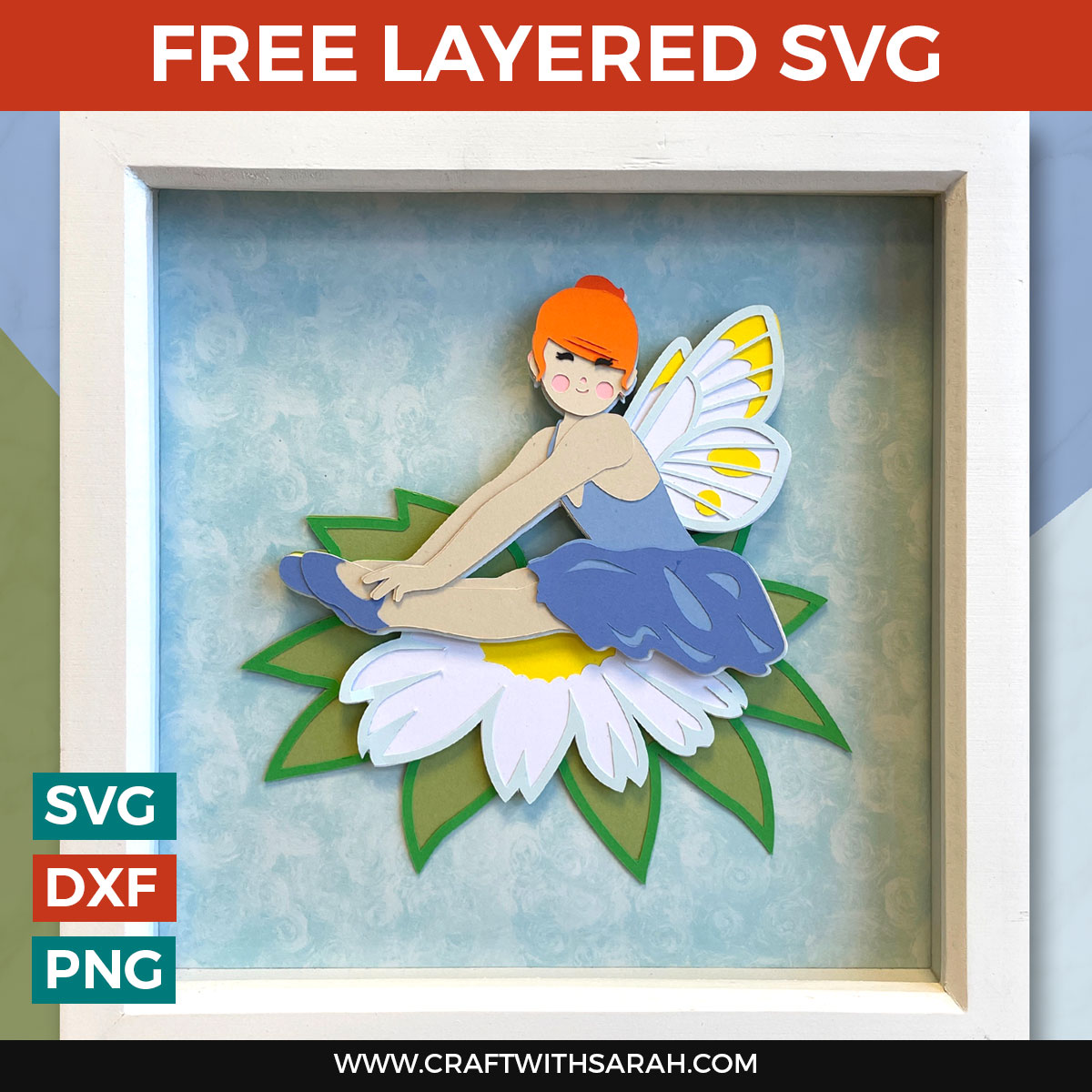 FREE Fairy SVG 🧚 DIY Fairy Paper Craft Project for Cricut