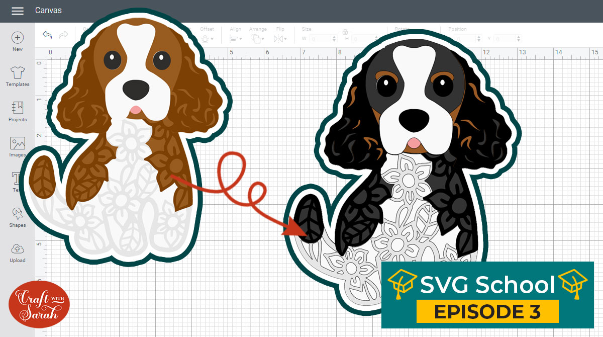 How to make tricolor dog SVGs