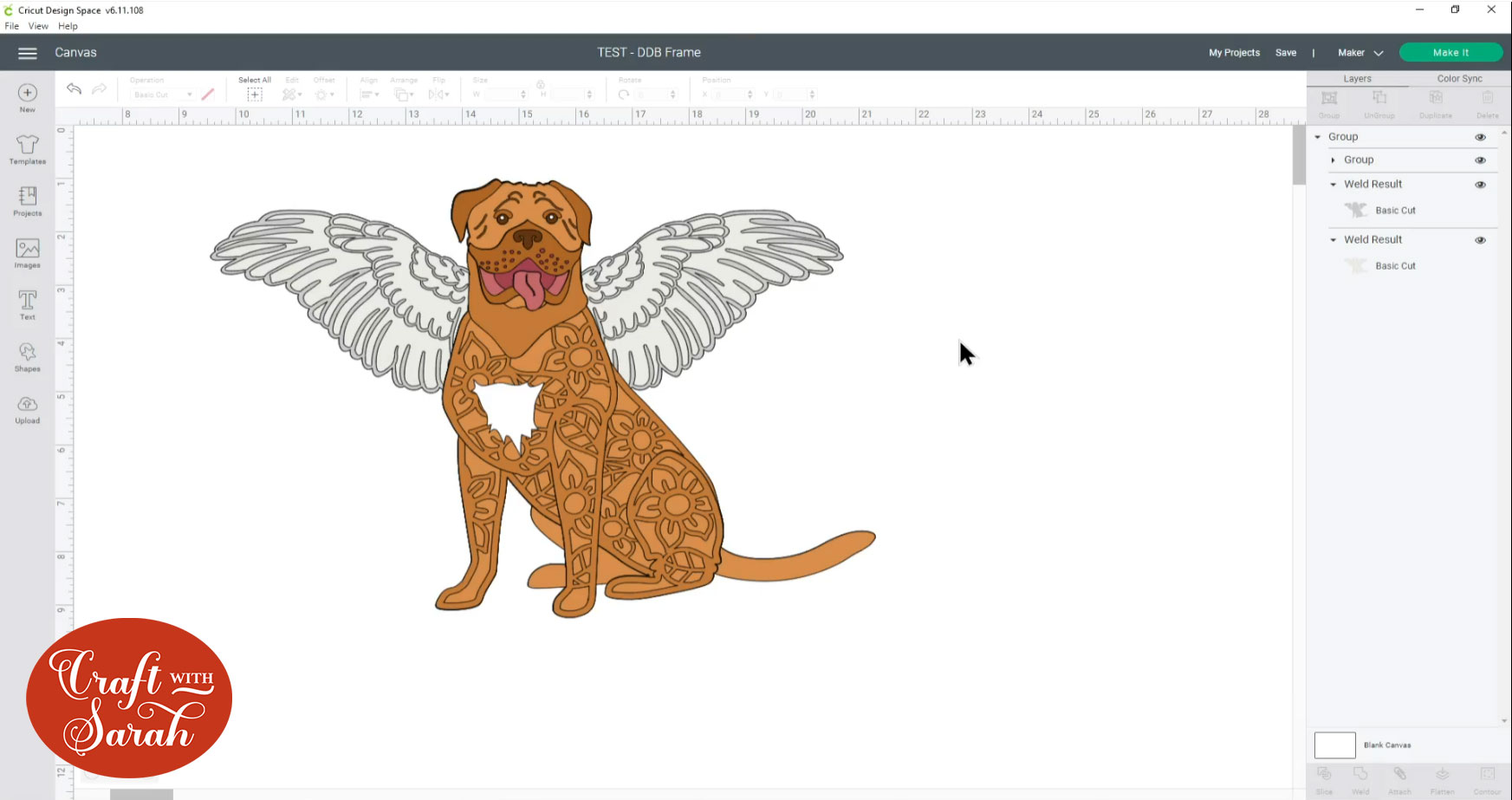 Angel dog design