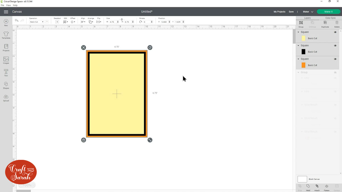 Create three rectangles