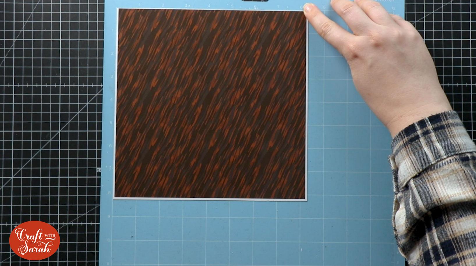 Position the pattern on Cricut mat