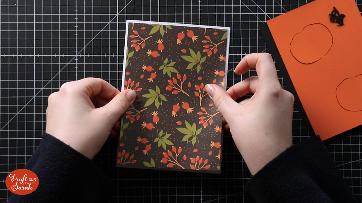 Stick the first layer to your card