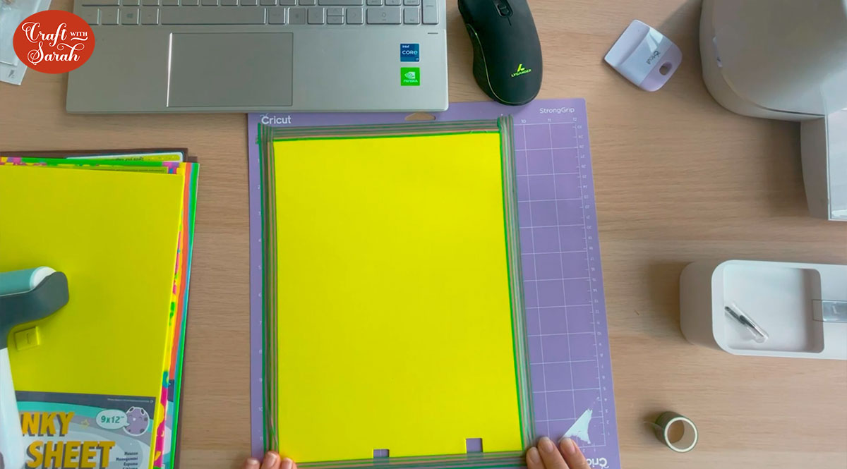 Stick the foam to a purple strong grip cutting mat