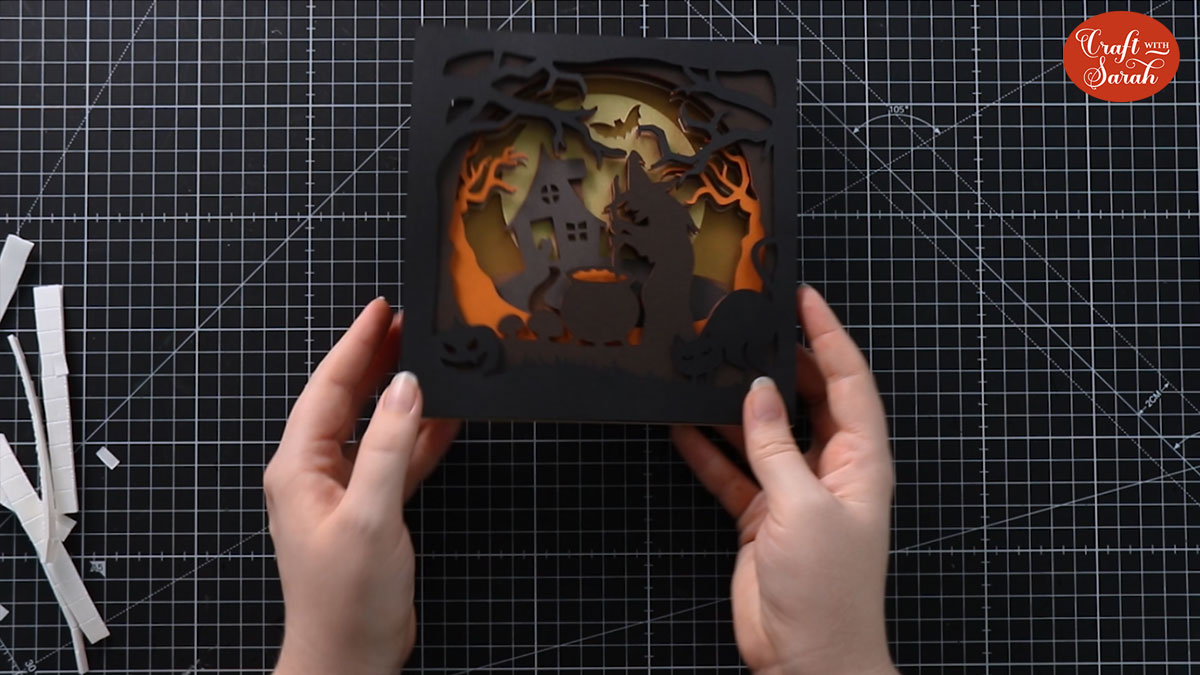 Shadow box layers stuck together