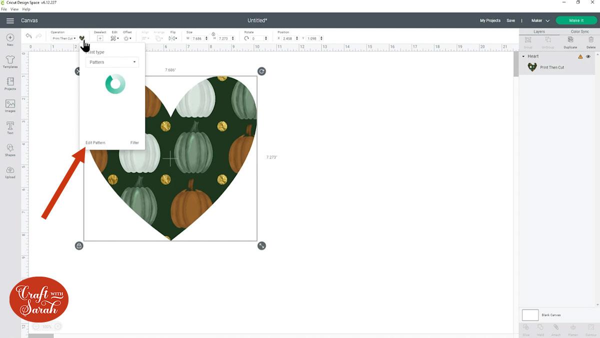 Edit pattern settings