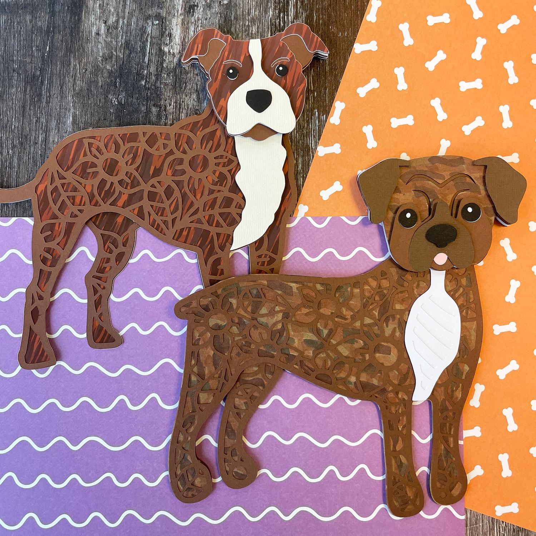 Creating brindle dog fur patterns
