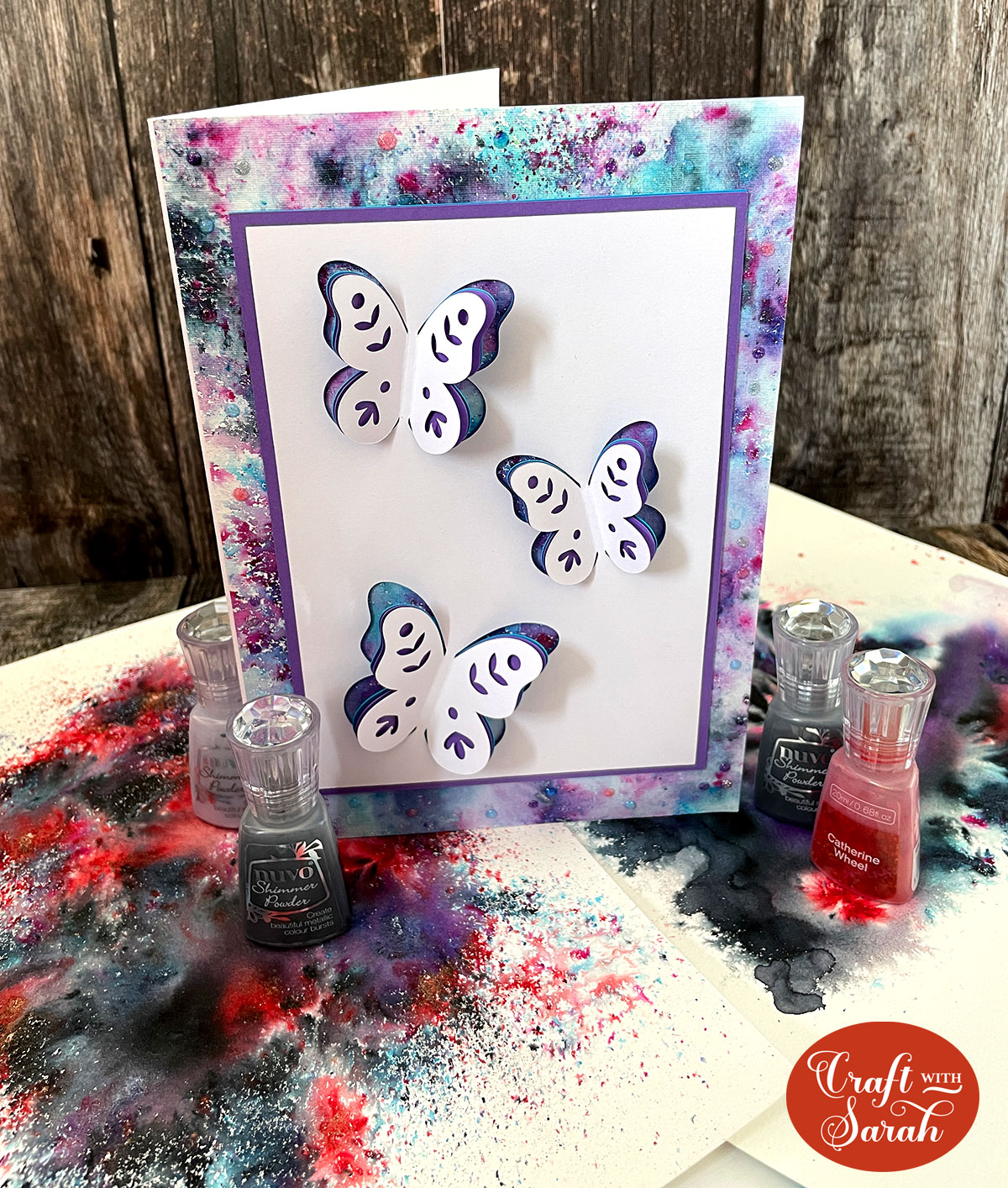 Pop out card with Nuvo Shimmer Powders