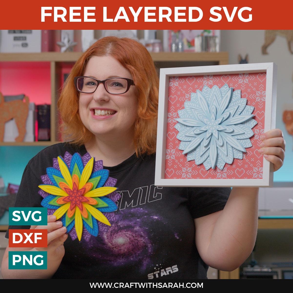 Free 3D Layered Mandala SVG: How to Make 3D Mandala Crafts