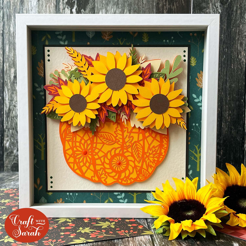 Free pumpkin sunflower SVG