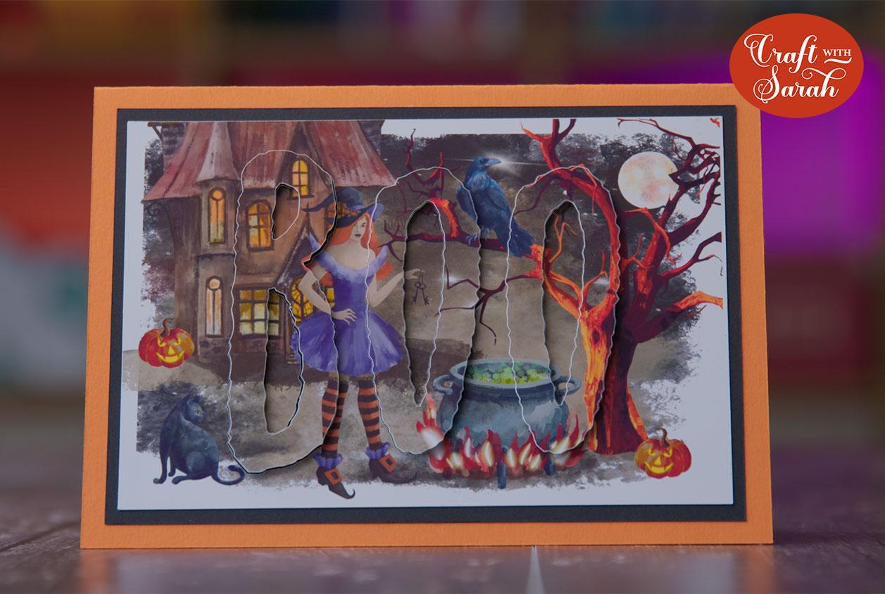 Halloween eclipse card