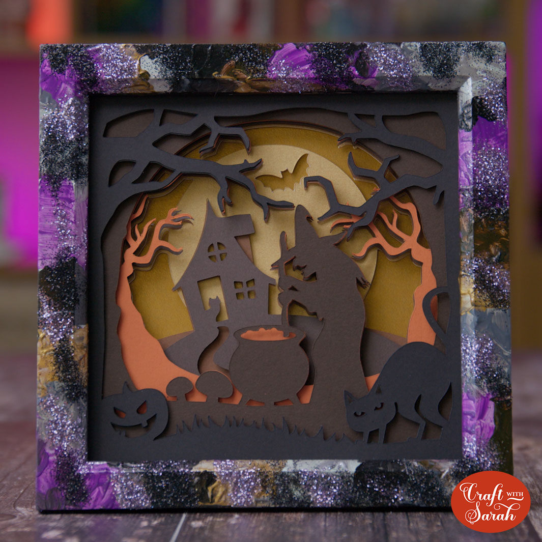 Halloween shadow box frame