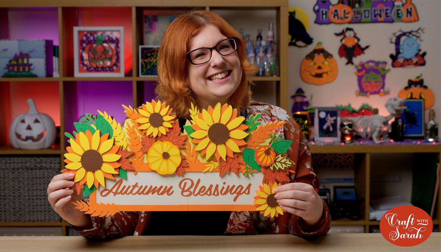 Craft with Sarah giant layered fall sign