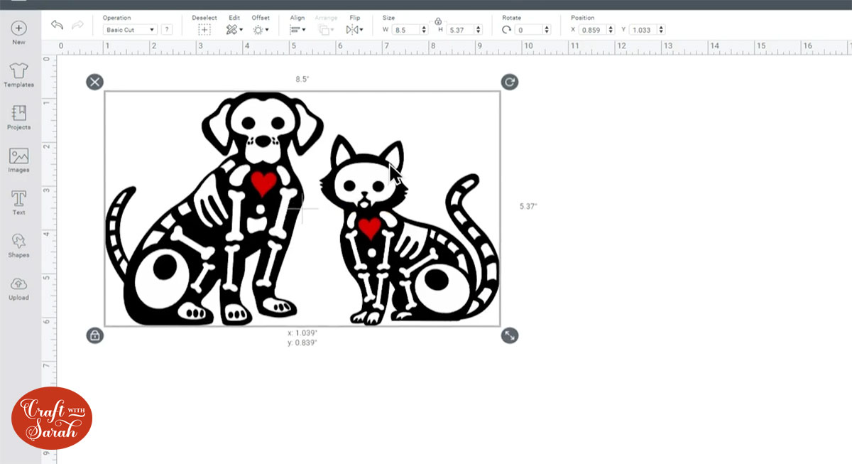 Resize the designs