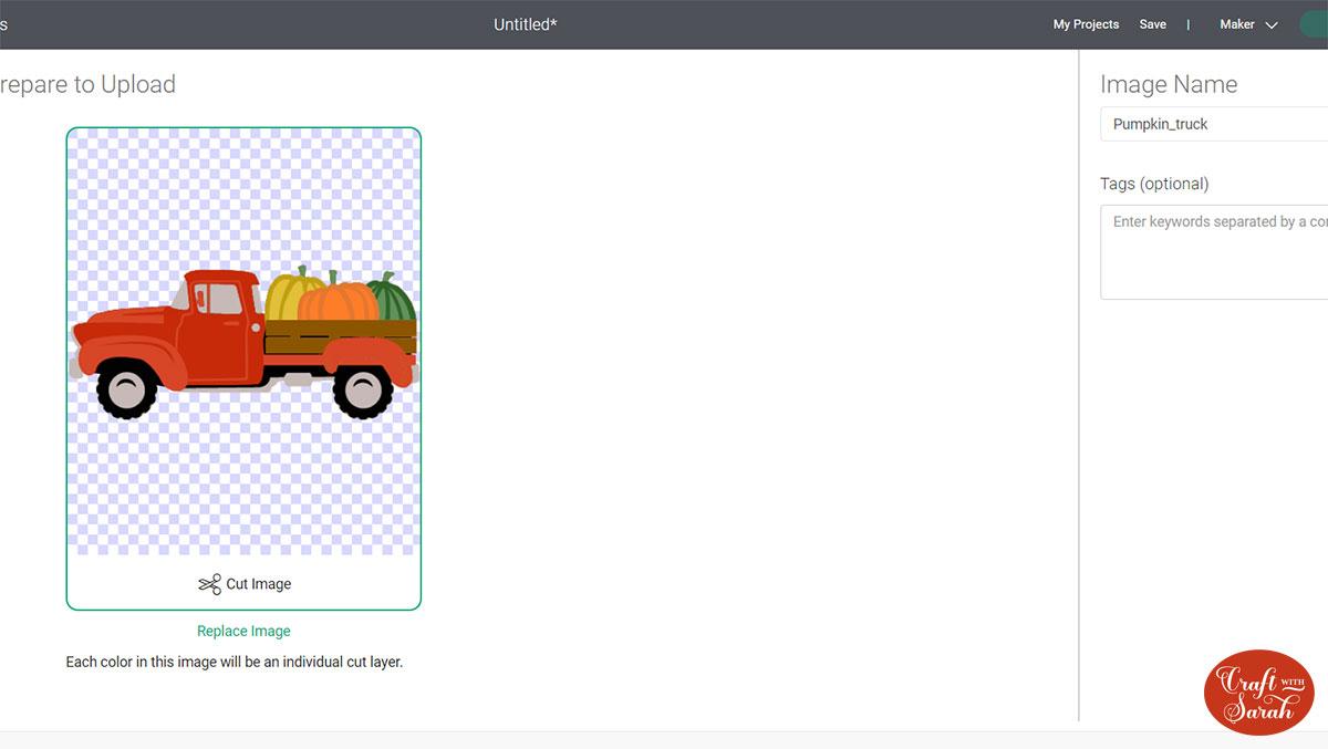 Layered truck in Design Space