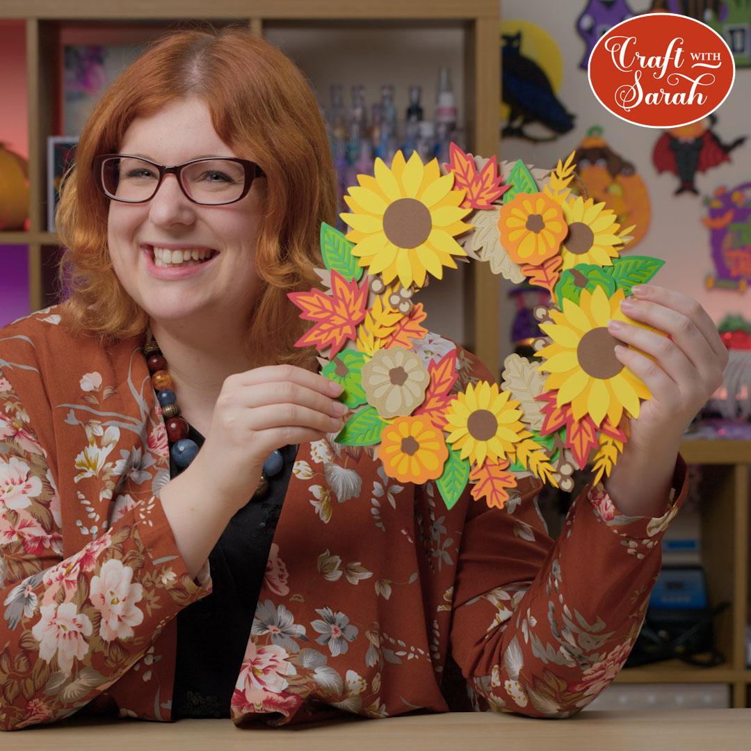 Craft with Sarah paper wreath