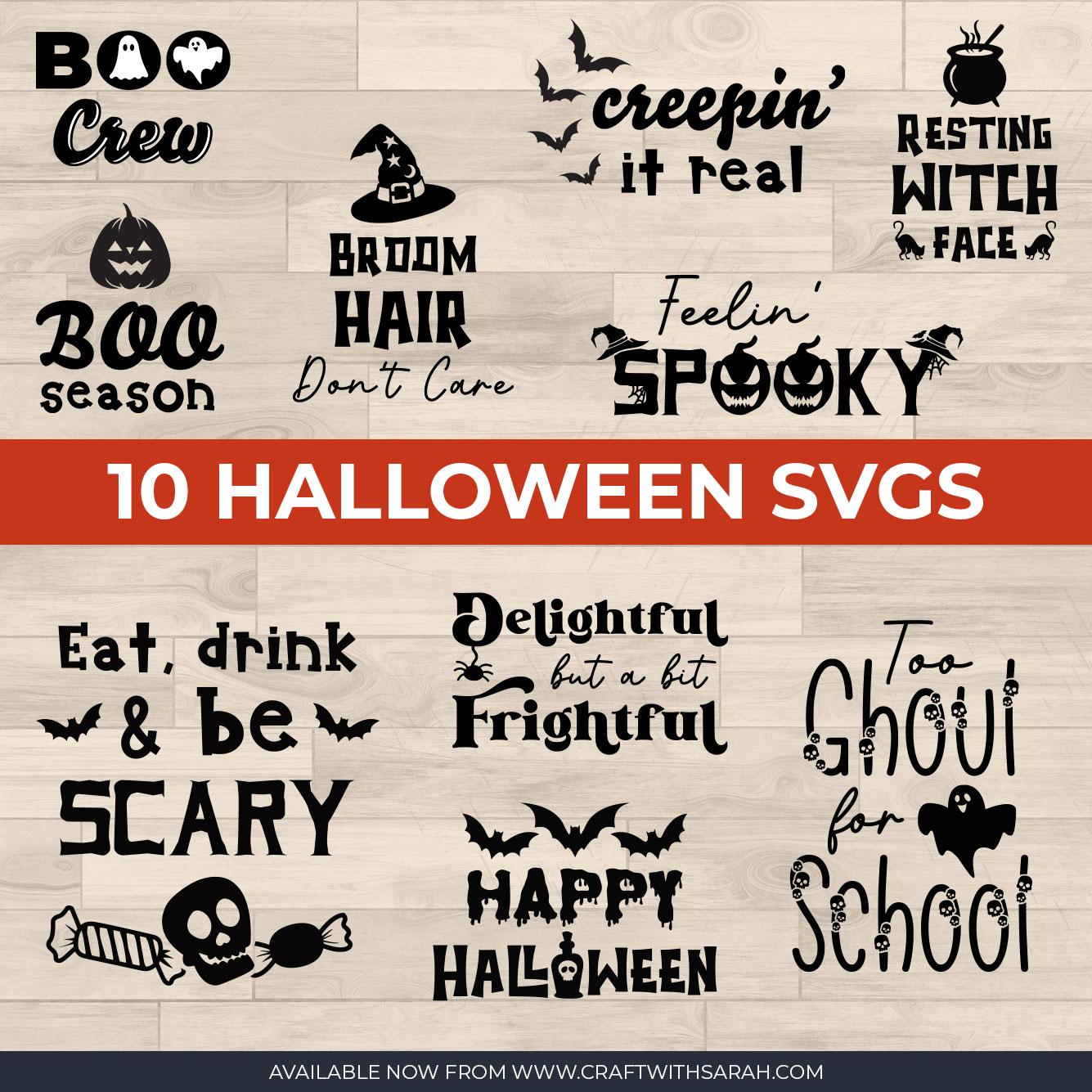 10 Cricut Vinyl Ideas for Halloween Crafts [HCC Day 18]
