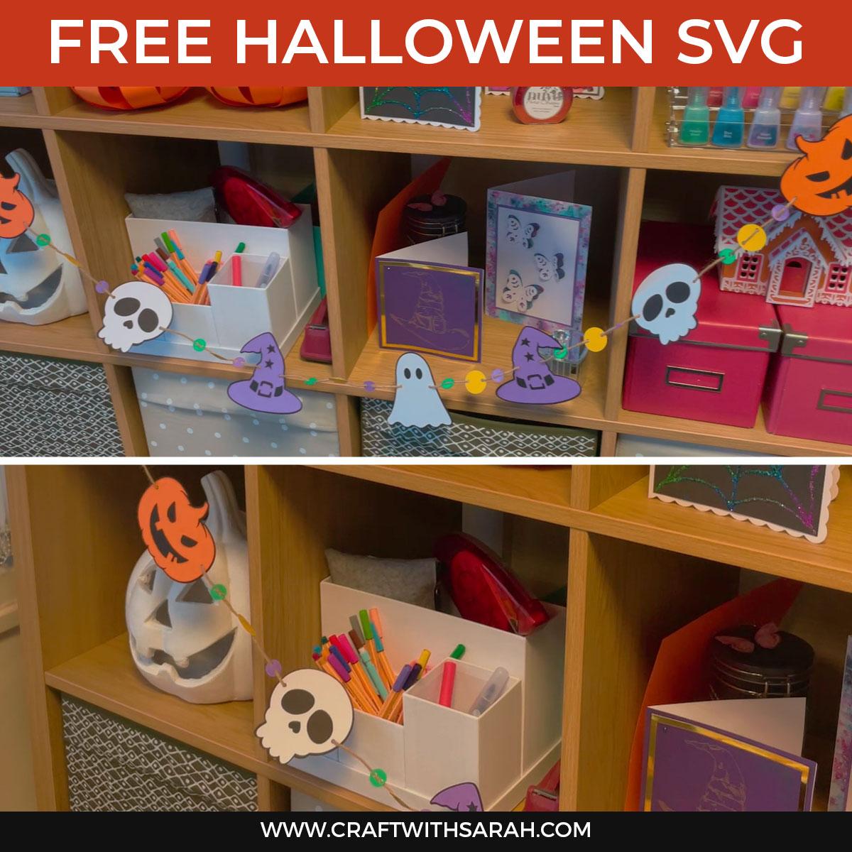 Easy DIY Halloween Paper Garlands [HCC Day 16]