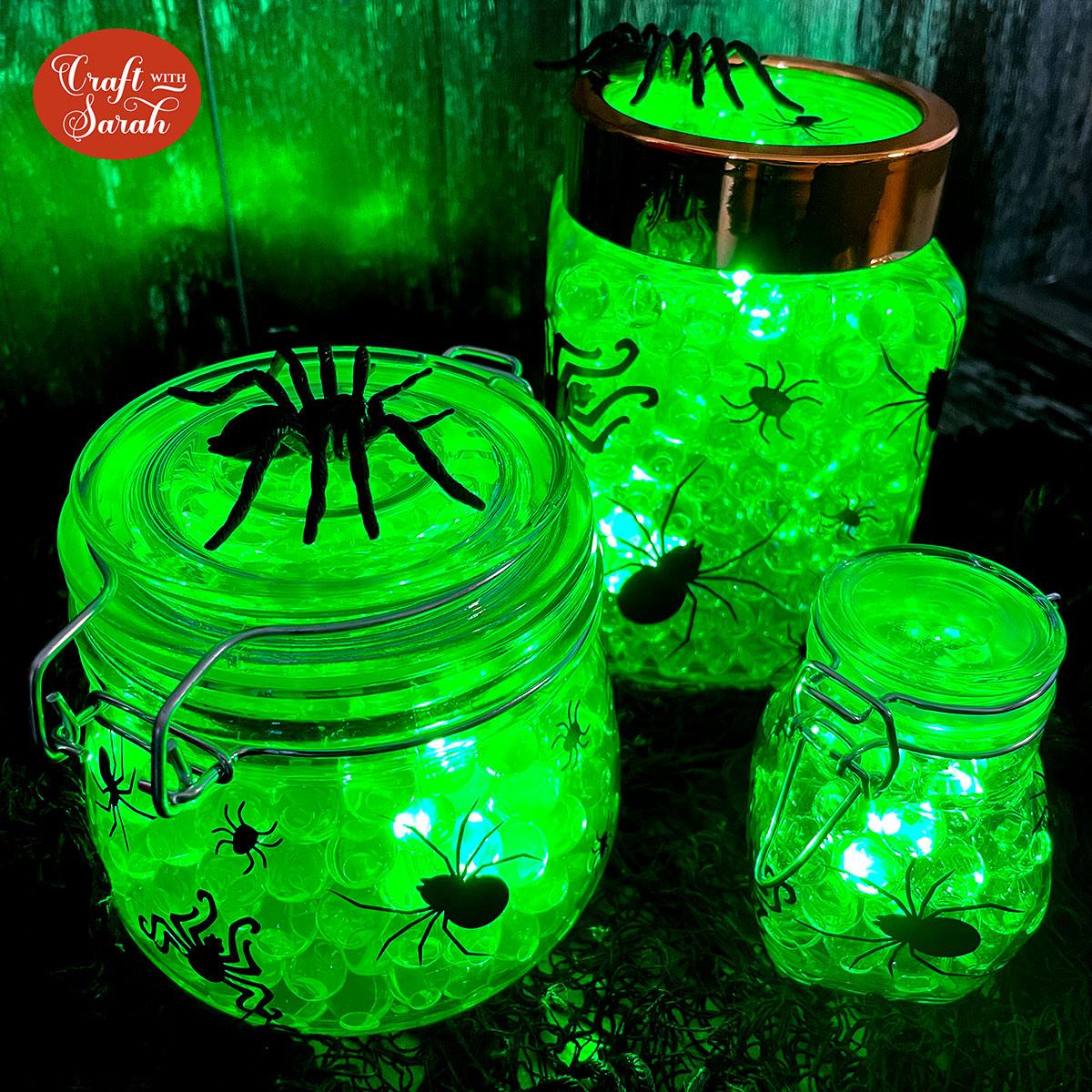 DIY Spider Egg Halloween Centrepiece that LIGHTS UP! [HCC Day 19]