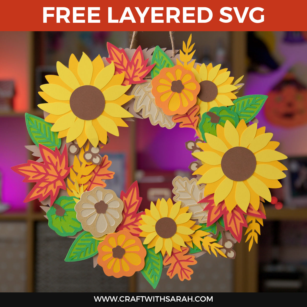 Make a Paper Wreath for Fall // DIY Sunflower Wreath [HCC Day 20]